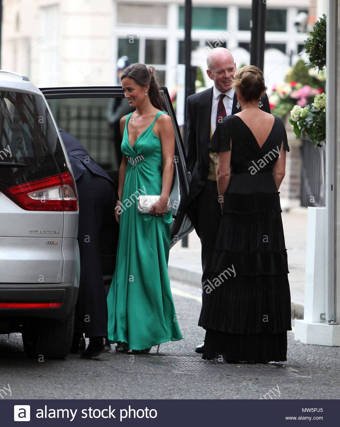 Pippa Middleton En Route To A Post Wedding Reception Party The