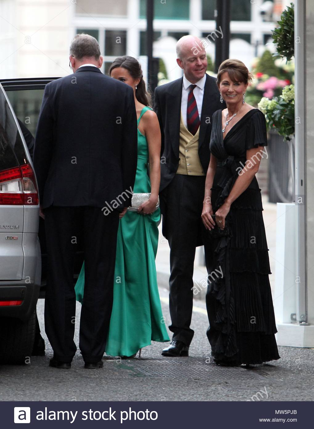 Michael Carole And Pippa Middleton En Route To A Post Wedding