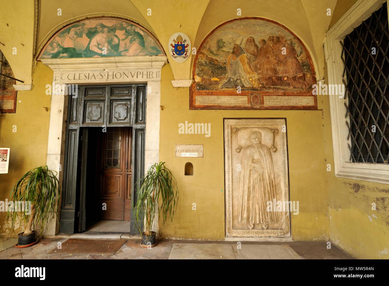 italy, rome, church of sant'onofrio al gianicolo, entrance to the church Stock Photo