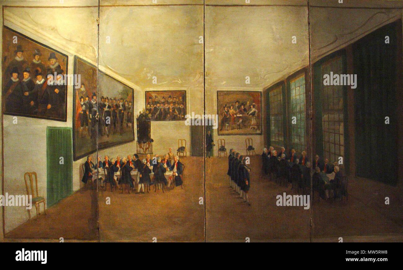 nederlands interieur van de sint jorisdoelen te gouda kamerscherm 671 interieur de doelen door simon klapmuts