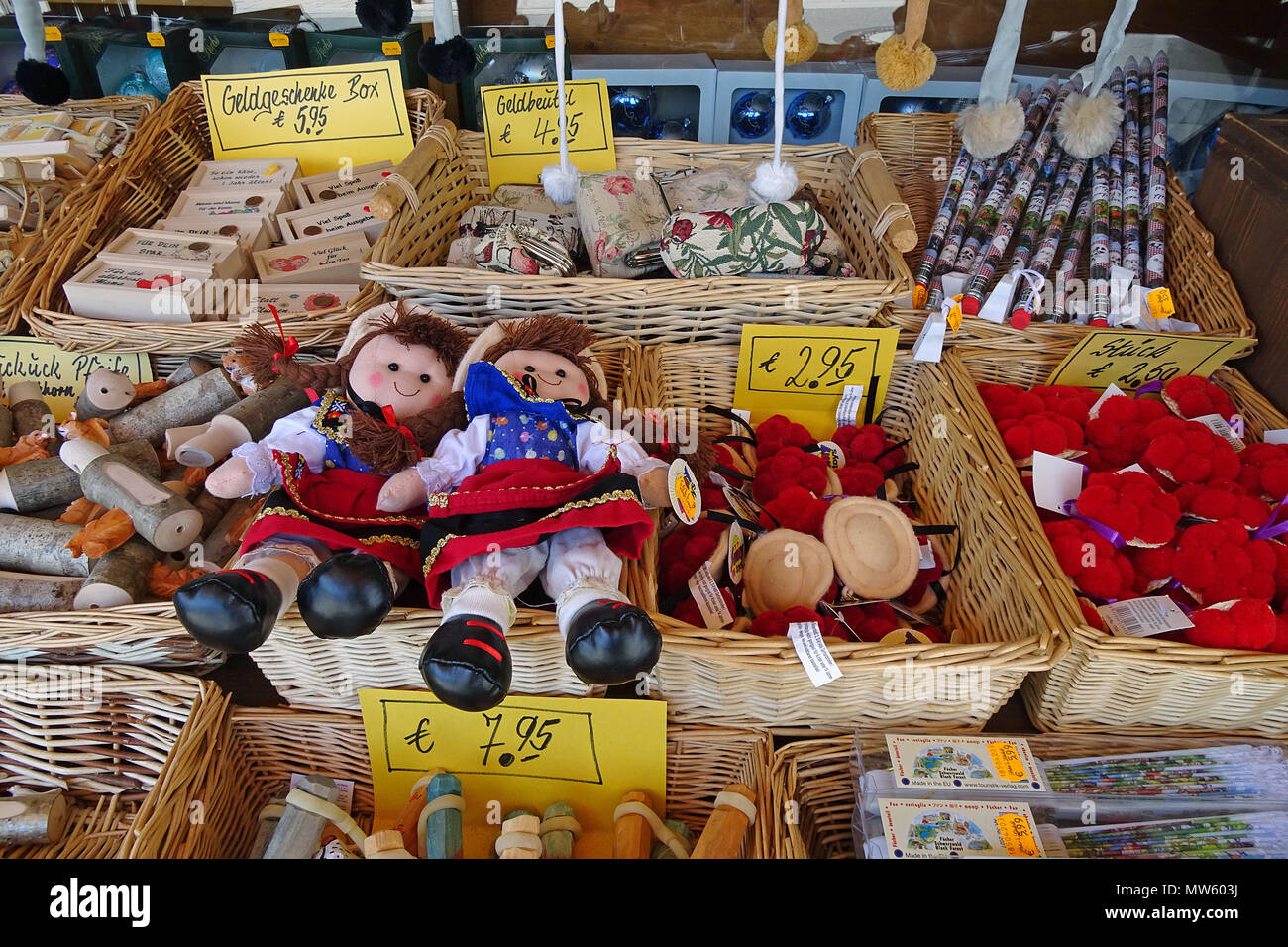 Black forest souvenirs at a souvenir shop, Triberg, Black Forest, Baden-Wuerttemberg, Germany, Europe Stock Photo