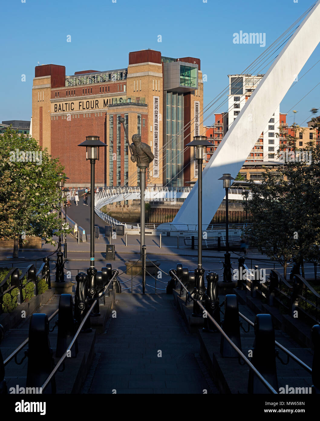 A daytime view in sunshine of BALTIC Centre for Contemporary Art, Gateshead, Tyne & Wear, England, United Kingdom - Stock Image