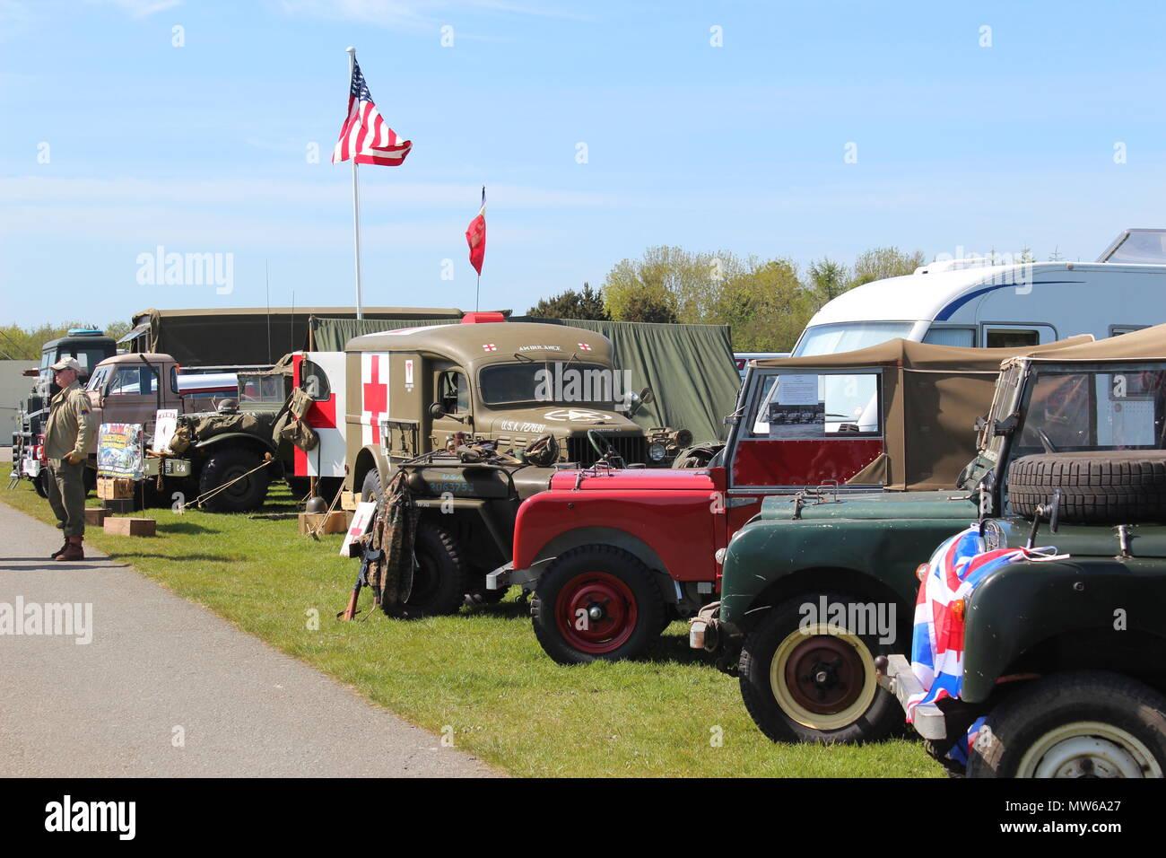 Military Vehicles Show at Llandudno, Wales Stock Photo