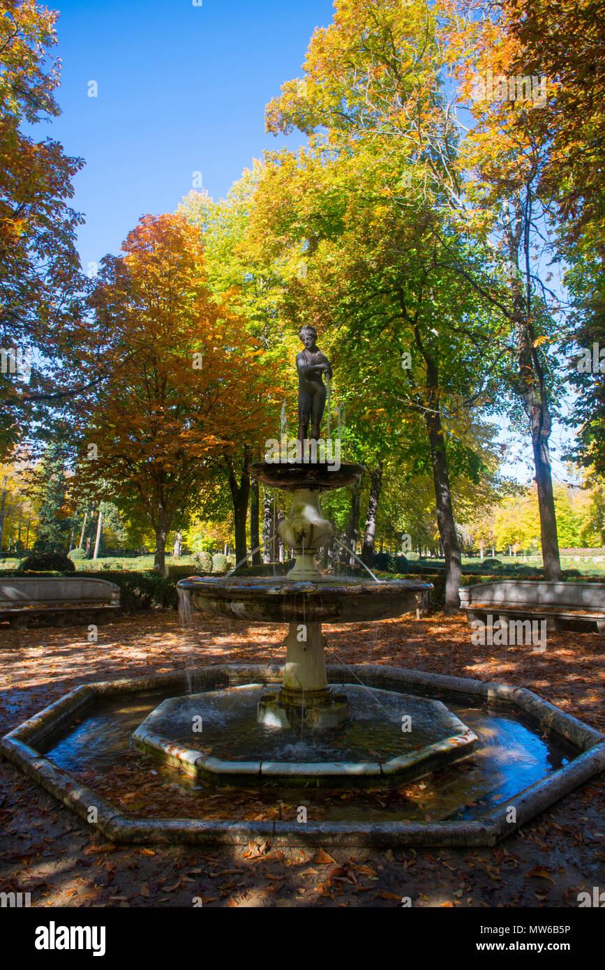 La Isla gardens. Aranjuez, Madrid province, Spain. - Stock Image