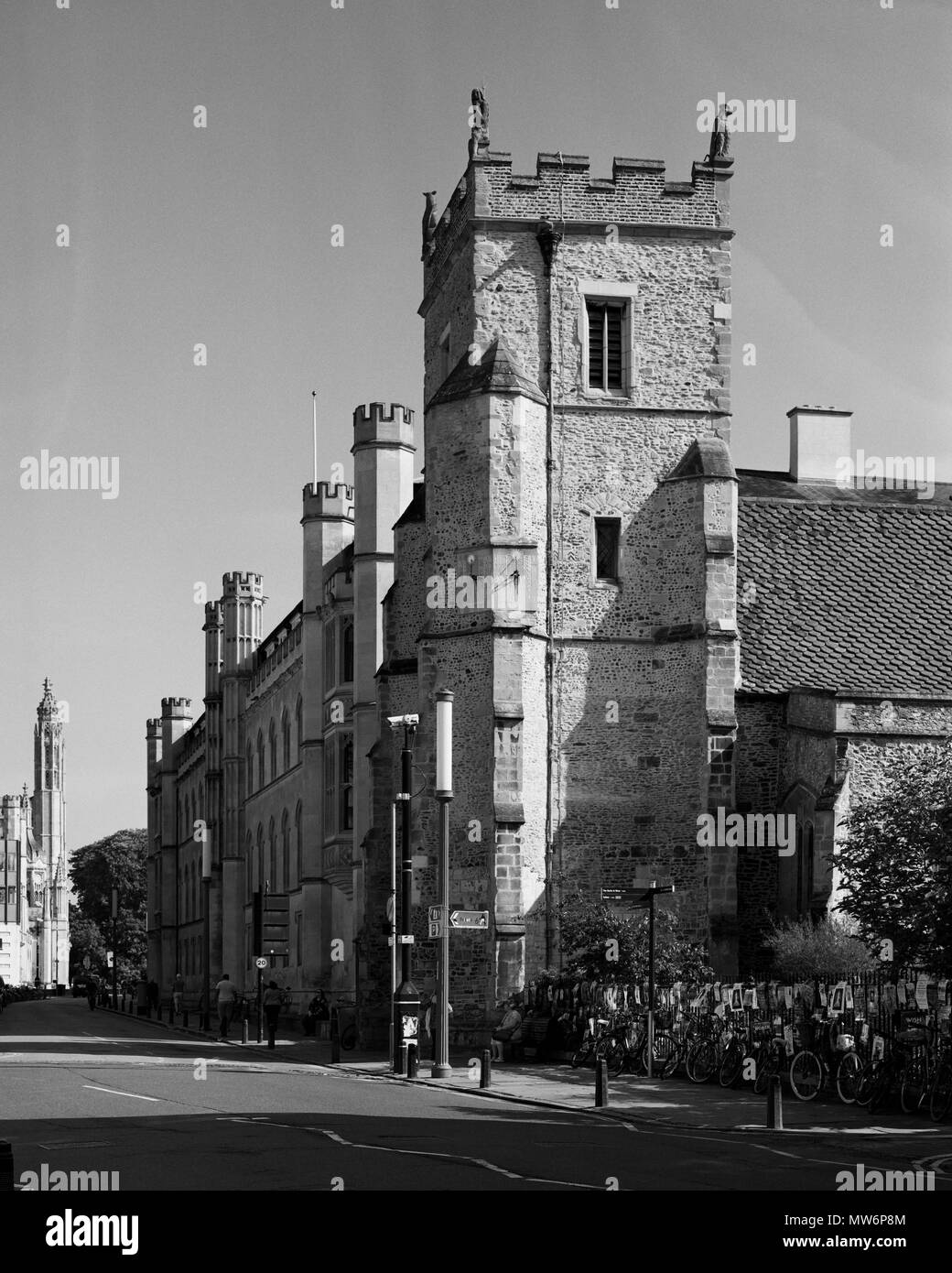 St Botolph's Church, Trumpingcon Street Cambridge Stock Photo