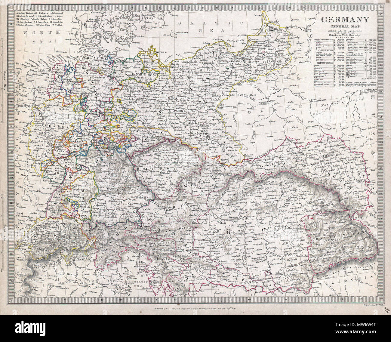 Map Of Germany To Color.Germany General Map English This Is The Society For Diffusion Of