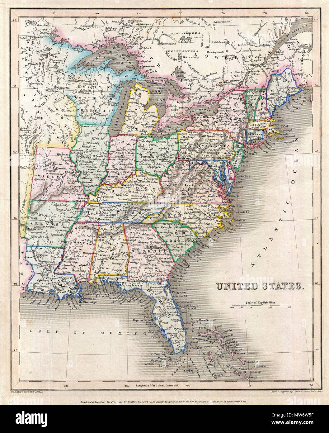 United States. English: An unusual and colorful map of the ...