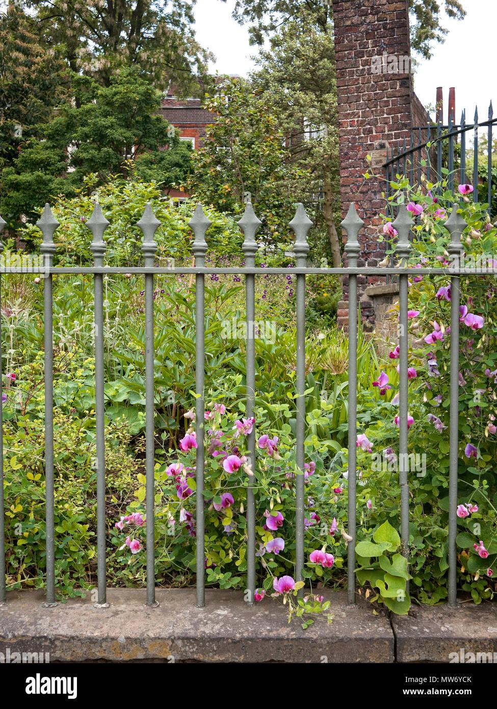 Cast Iron Garden Railings.   Stock Image