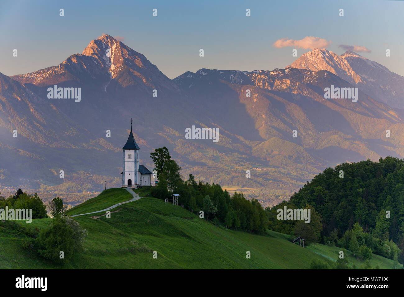 Jamnik is a settlement on the eastern slopes of the Jelovica Plateau in the Municipality of Kranj in the Upper Carniola region of Slovenia. The local  Stock Photo