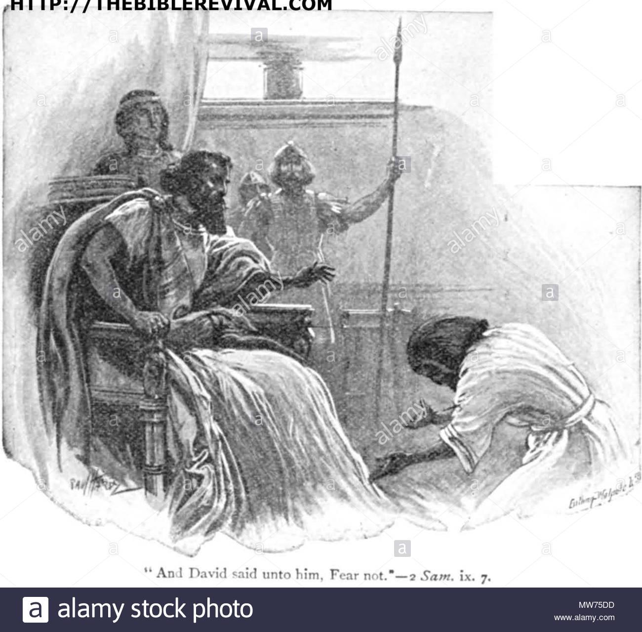 English David And Mephibosheth Before 1942 Paul Hardy 44 Said Unto Him