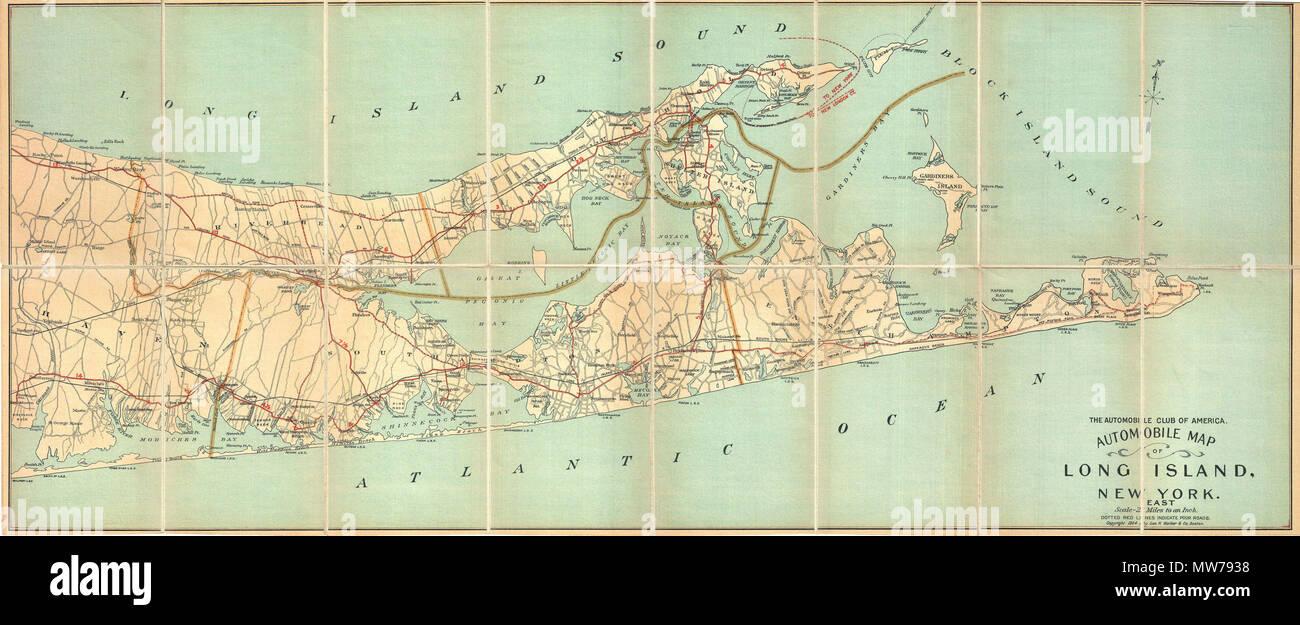 Map Of East Hampton Stock Photos & Map Of East Hampton Stock Images ...
