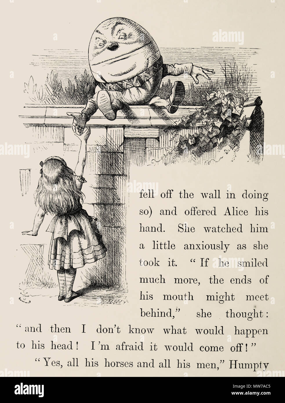 humpty dumpty alice through the looking glass