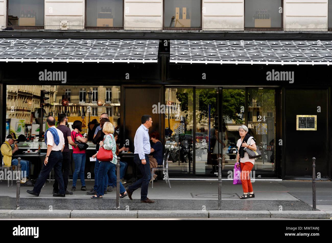 Fauchon de luxe caterer store - Place de la Madeleine - Paris - France - Stock Image