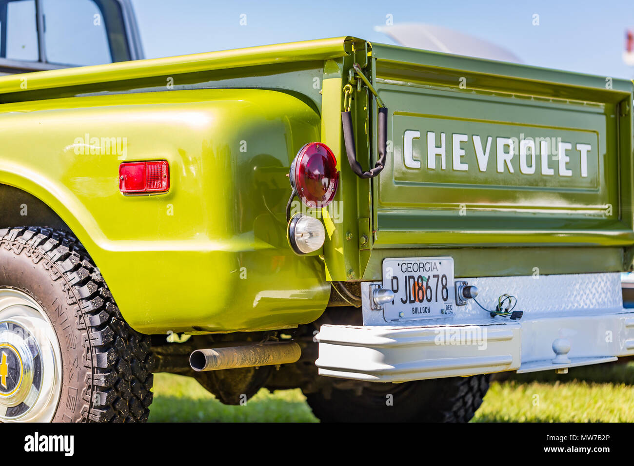Old chevrolet tailgate