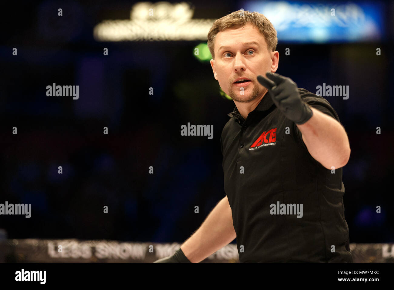 Viktor Korneev, Mixed Martial Arts (MMA) referee. - Stock Image