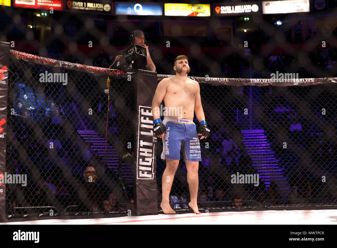 Tanner Boser, Canadian heavyweight Mixed Martial Artist, ahead of his fight at ACB 54 (Absolute Championship Berkut) in Manchester, UK. Mixed Martial Arts, MMA. - Stock Image