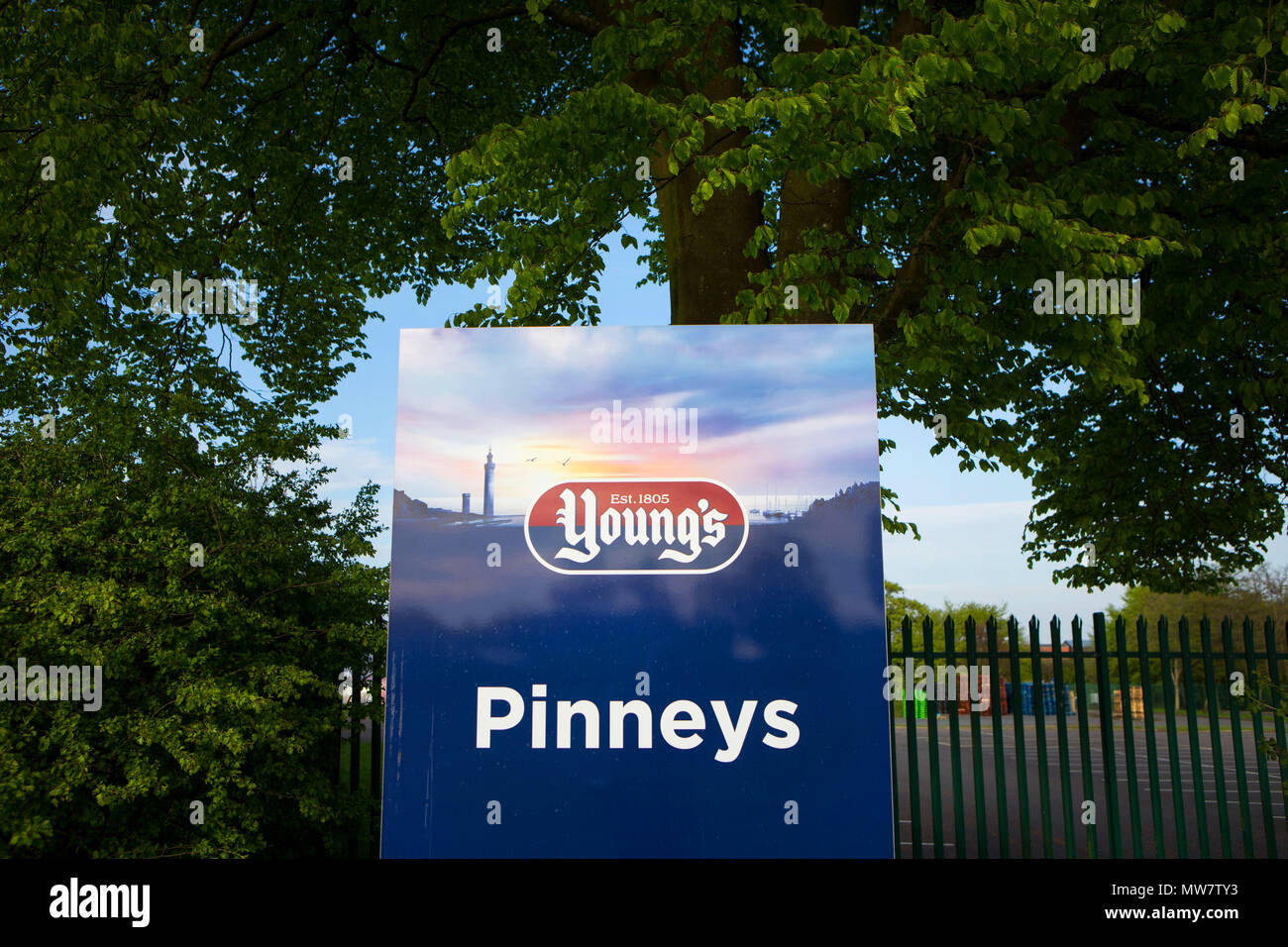 General View of Youngs Seafood, Pinneys of Scotland Stapelton Road Factory in Annan, Dumfrieshire. - Stock Image