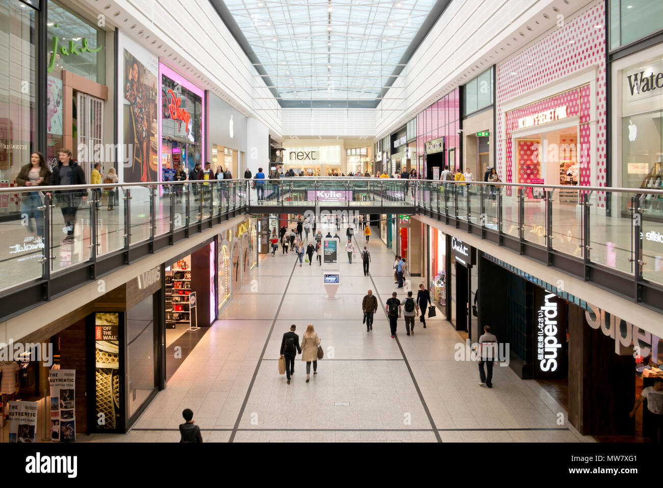 Internal view of Manchester Arndale. - Stock Image