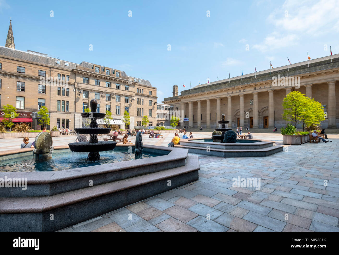 View of the Caird Hall in City Square, Dundee, Scotland, UK - Stock Image