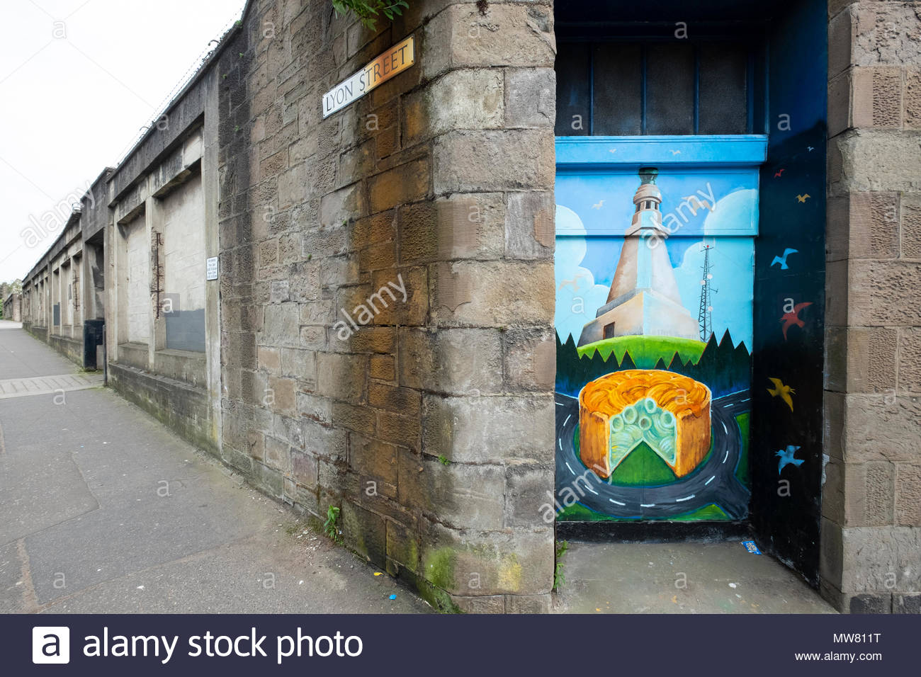 Street art project Openclose Dundee using art on doors in out of the way alleyways and lanes .Tayside Plumbing by Matthew Beakes & Street art project Openclose Dundee using art on doors in out of the ...