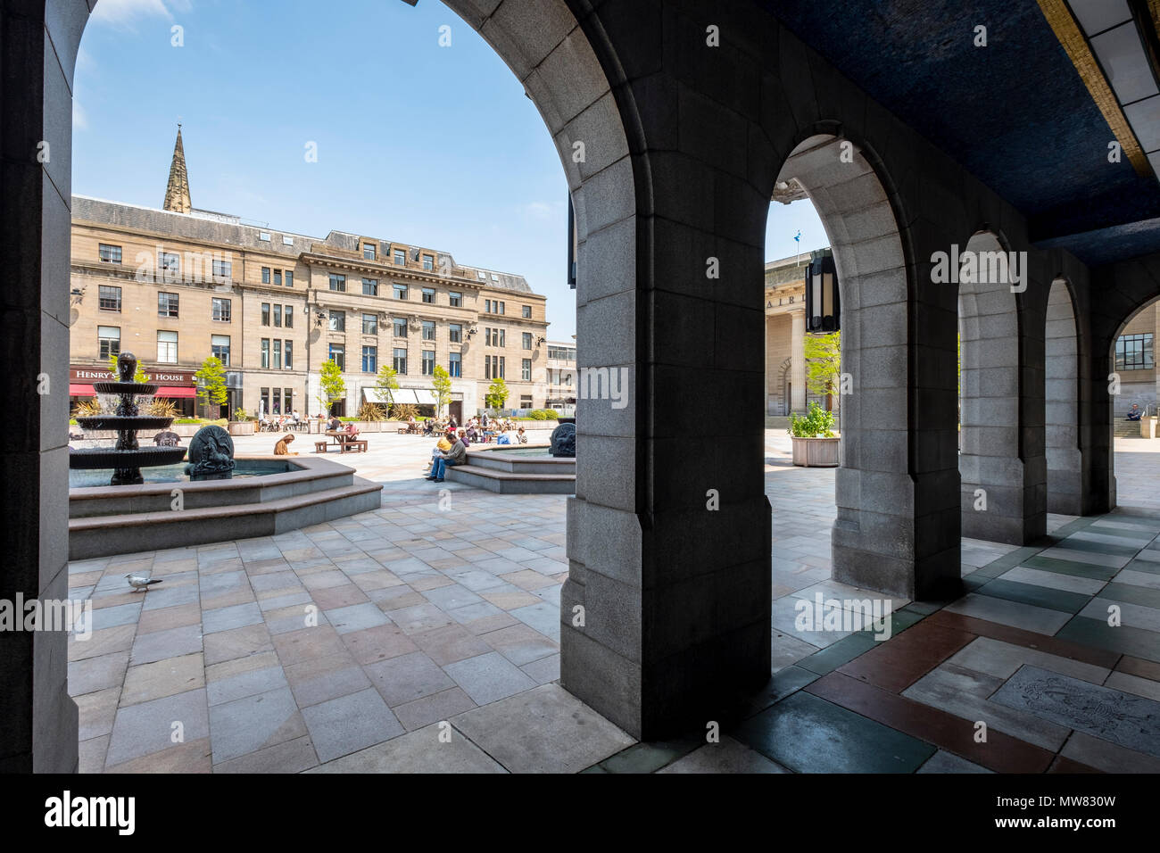 View of the City Square in Dundee, Scotland, UK - Stock Image