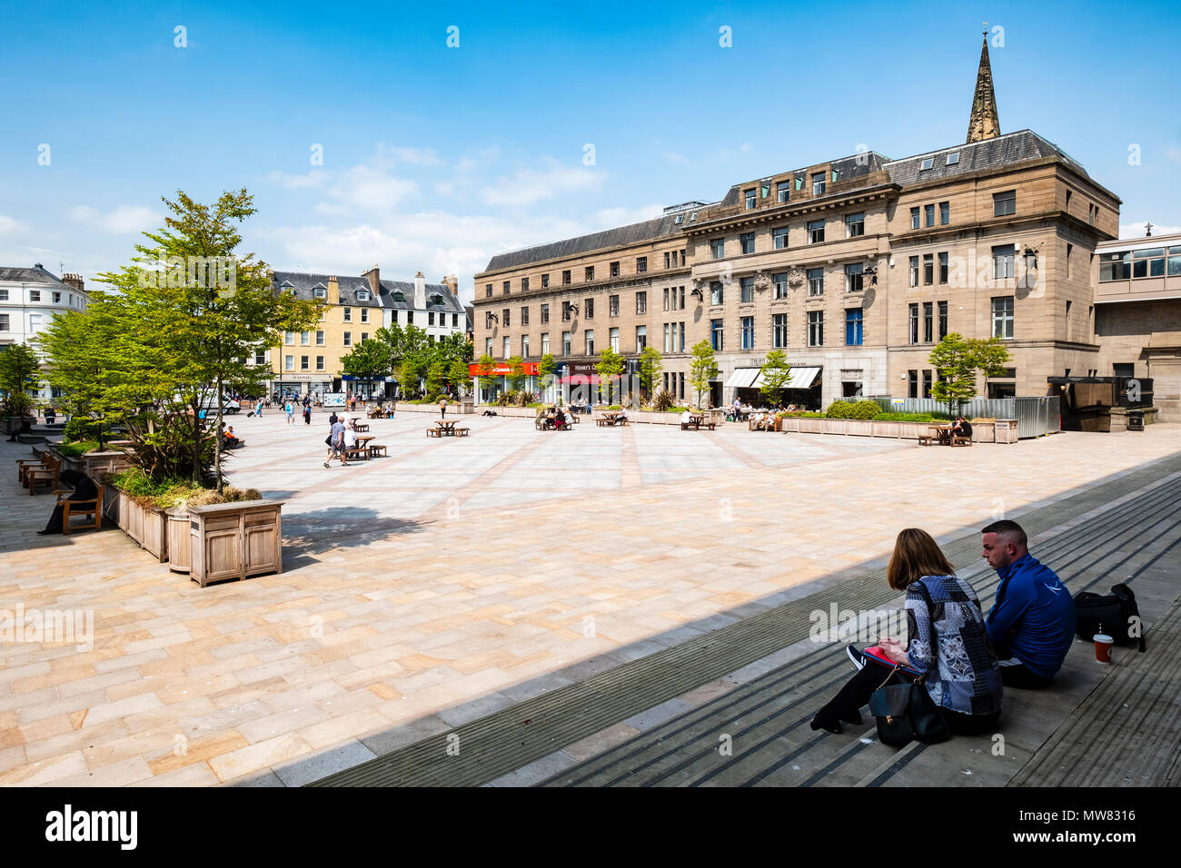 View of the City Square from Caird Hall, Dundee, Scotland, UK - Stock Image