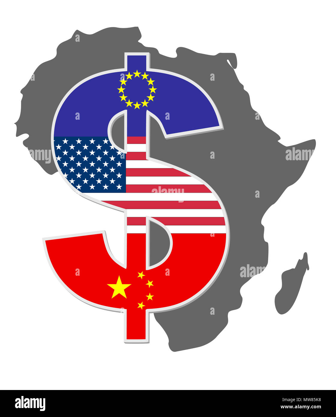 African countries are getting exploited by western countries and China - Stock Image