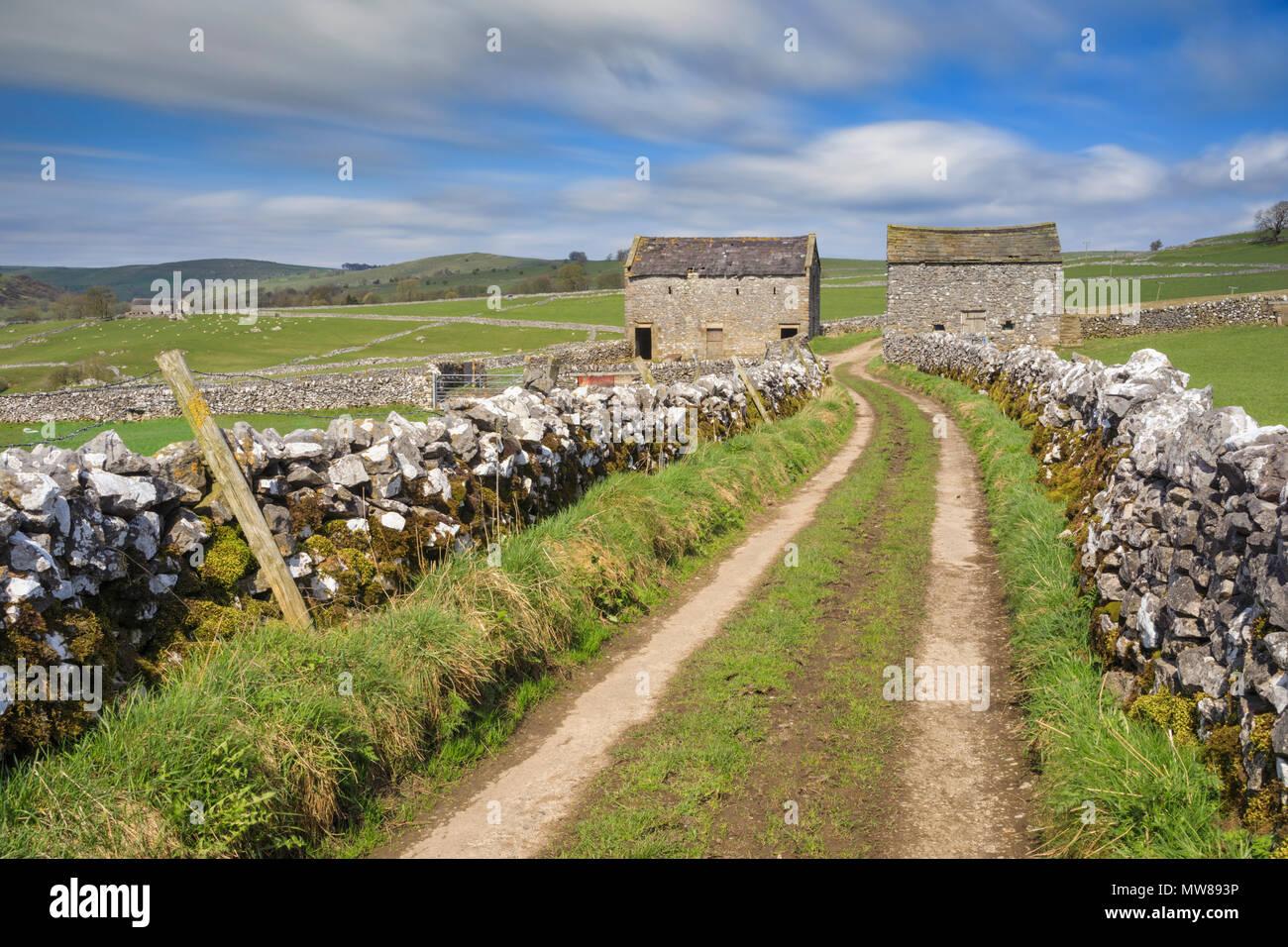 Barns near Hartington in the Peak District National Park. - Stock Image