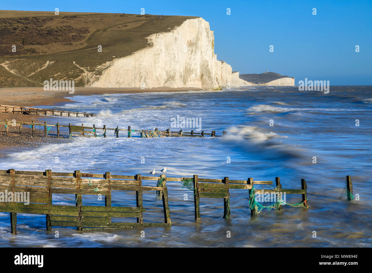 The Seven Sisters in East Sussex Stock Photo