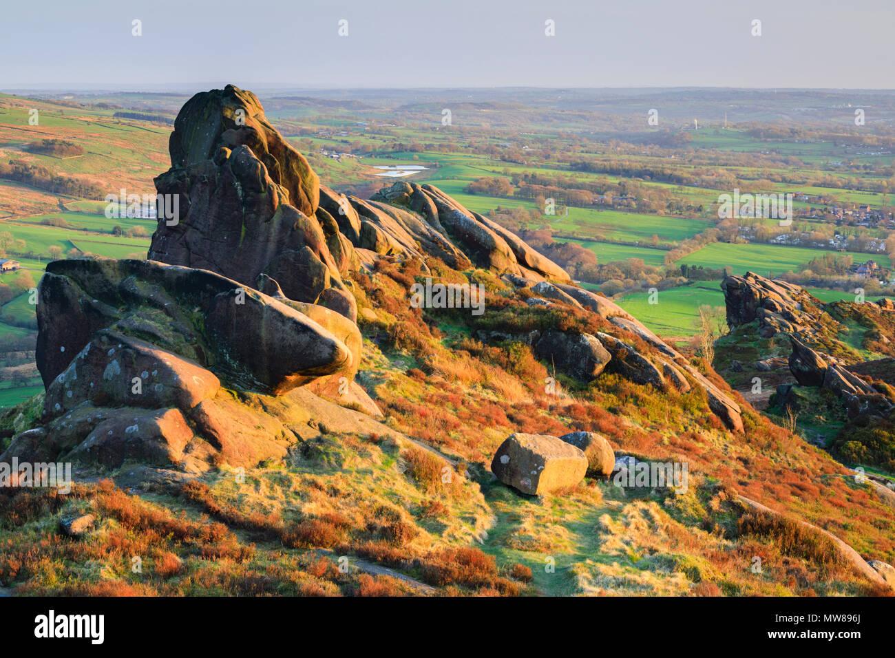 Ramshaw Rocks in the Peak District National Park. - Stock Image