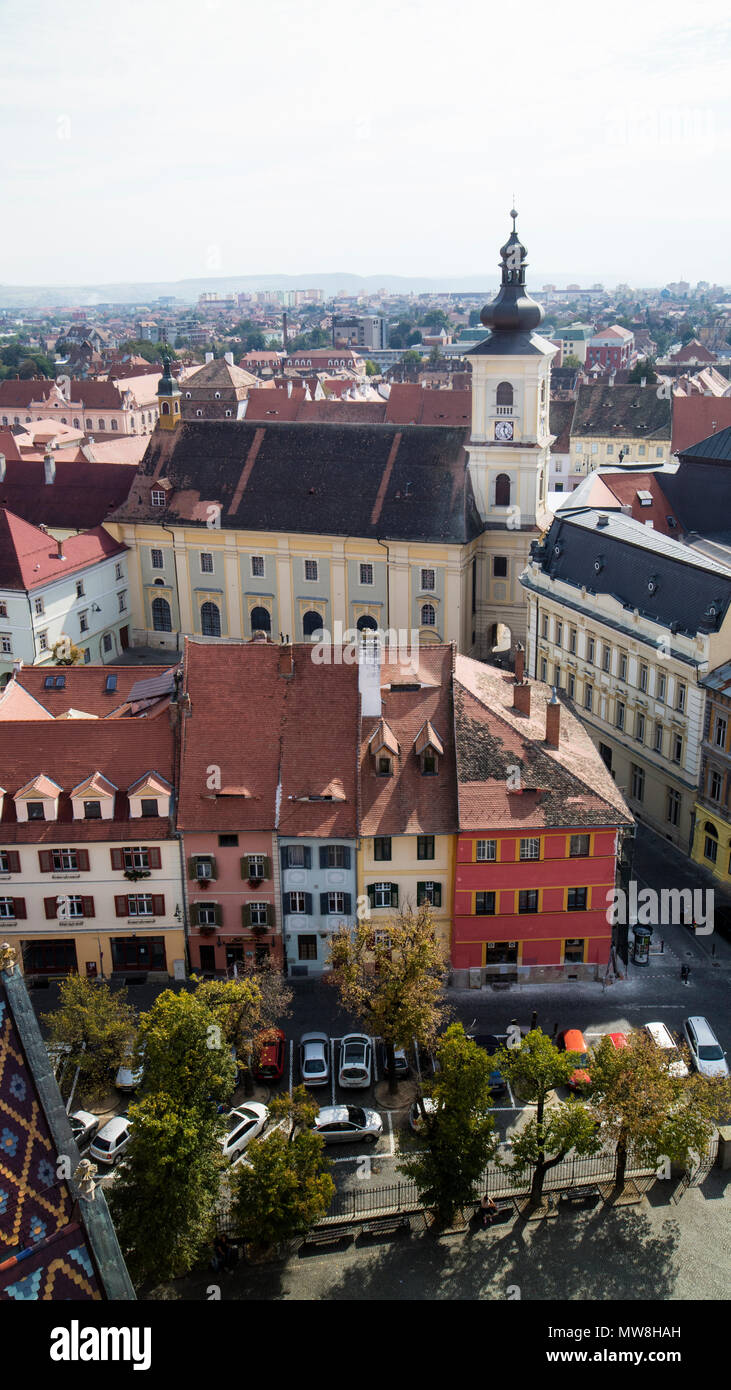 Sibiu, Hermannstadt, Romania. Europe - Stock Image