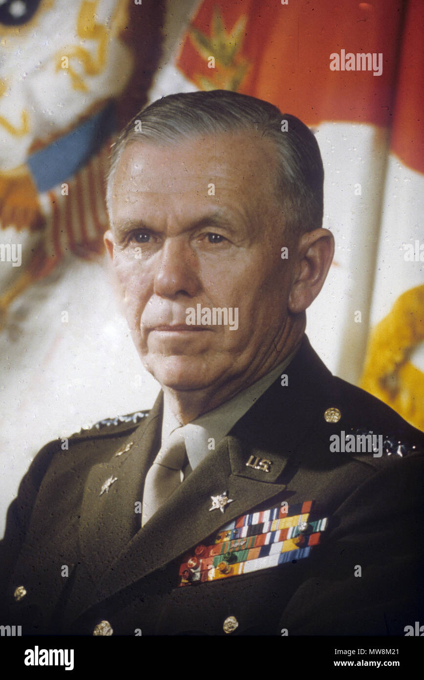 GEORGE MARSHALL (1880-1959) American statesman as Chief of Staff of the United States Army in 1944 - Stock Image