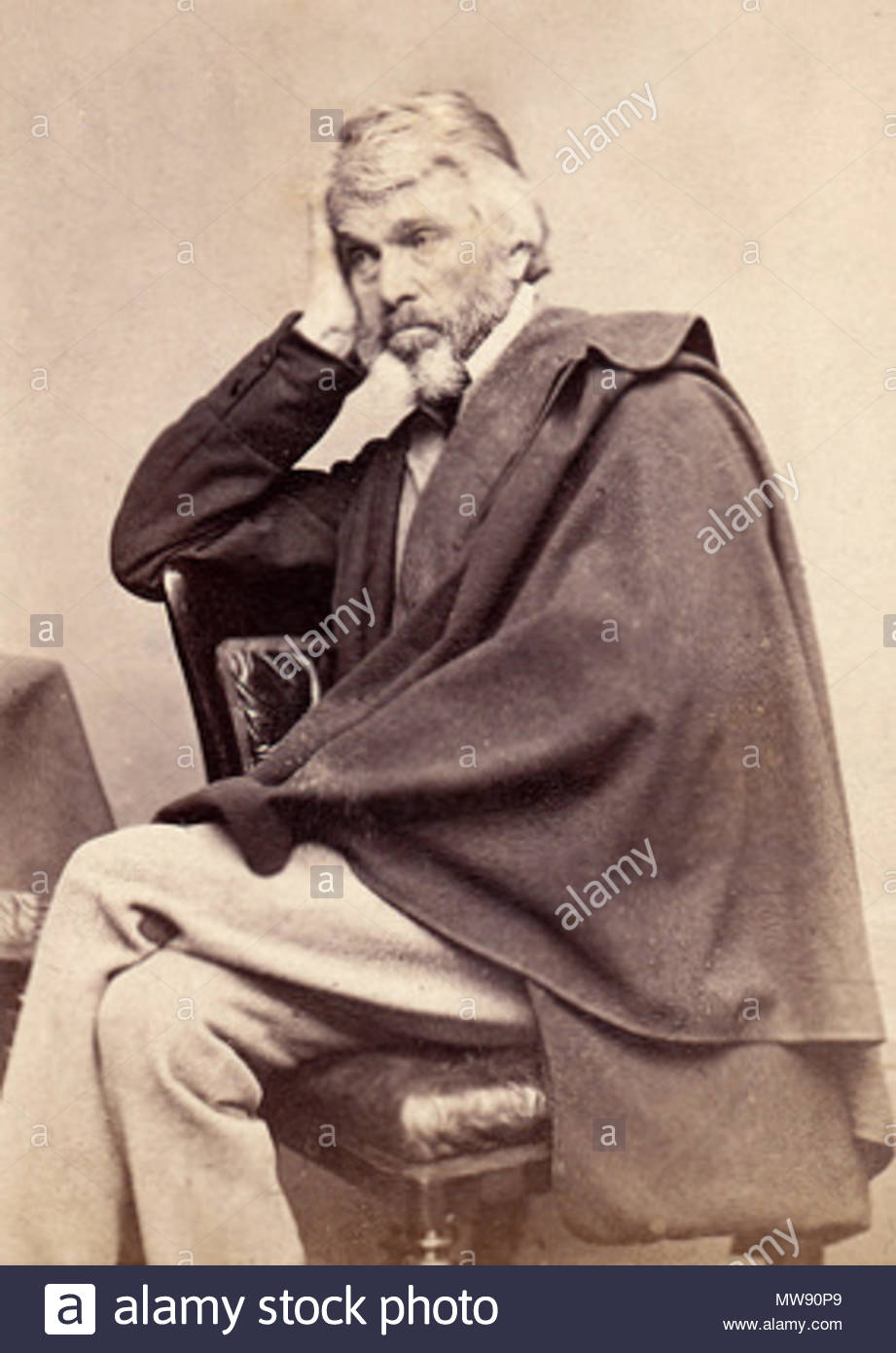 Thomas Carlyle   circa 1860s  Elliott & Fry Alternative