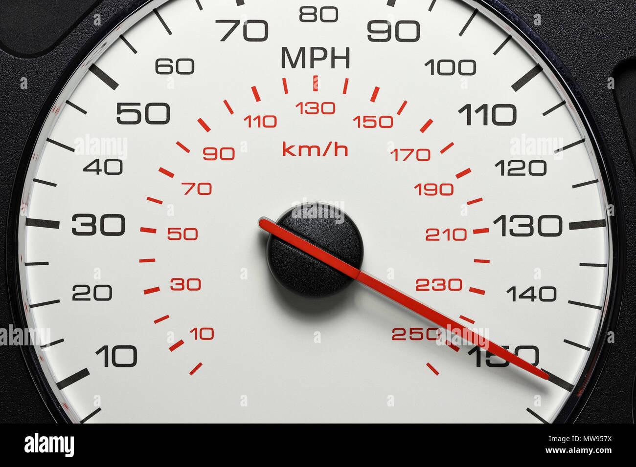 speedometer at 150 mph stock photo alamy https www alamy com speedometer at 150 mph image187671790 html