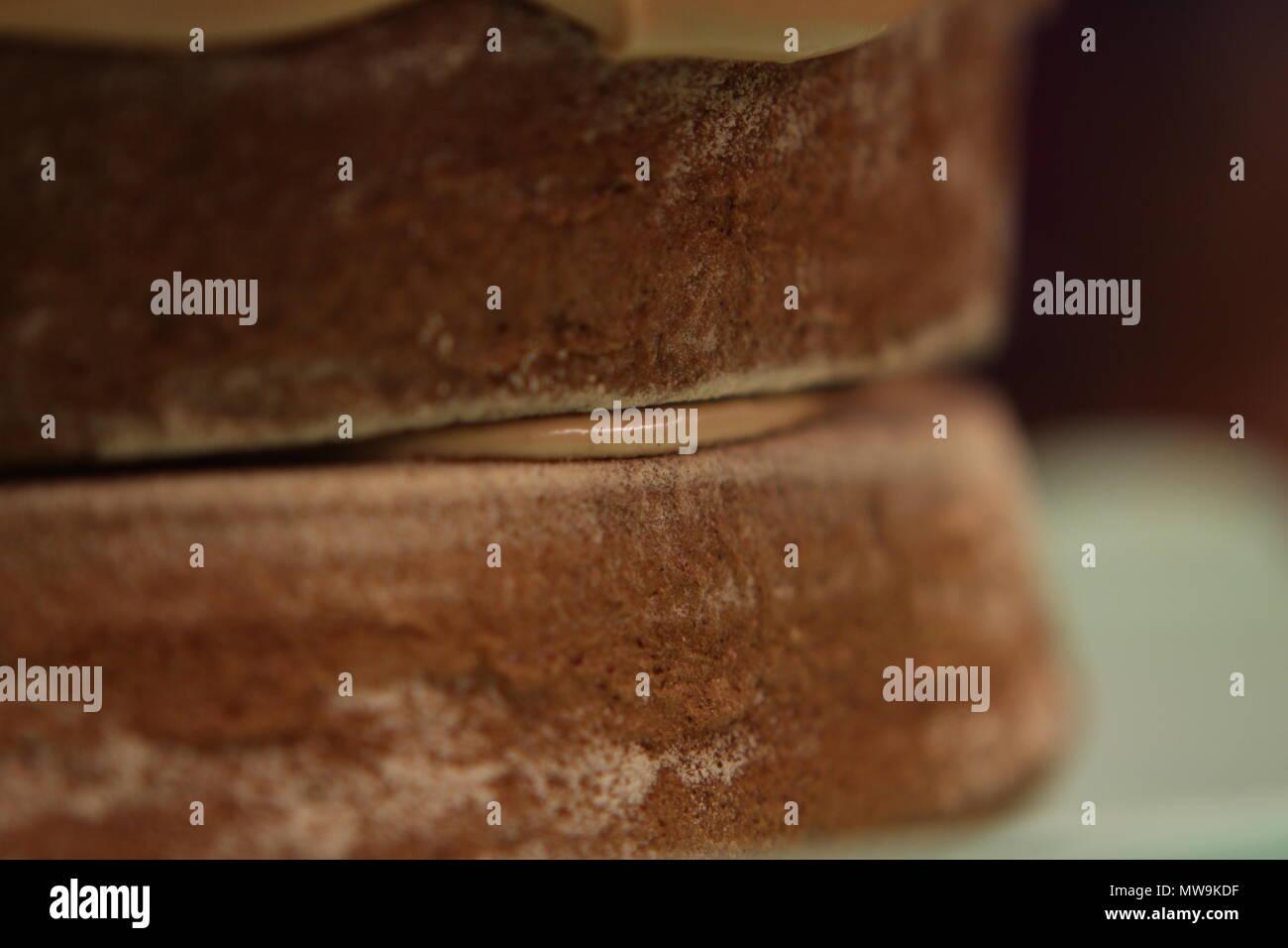 Mum's homemade coffee cake. - Stock Image