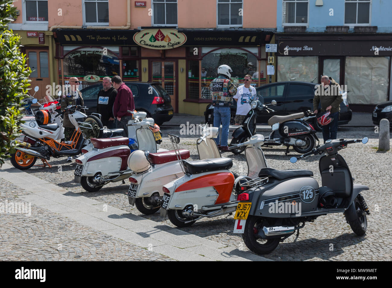 03b18b6a4 Mods weekend at Margate on 26th-27th may 2018 - Stock Image