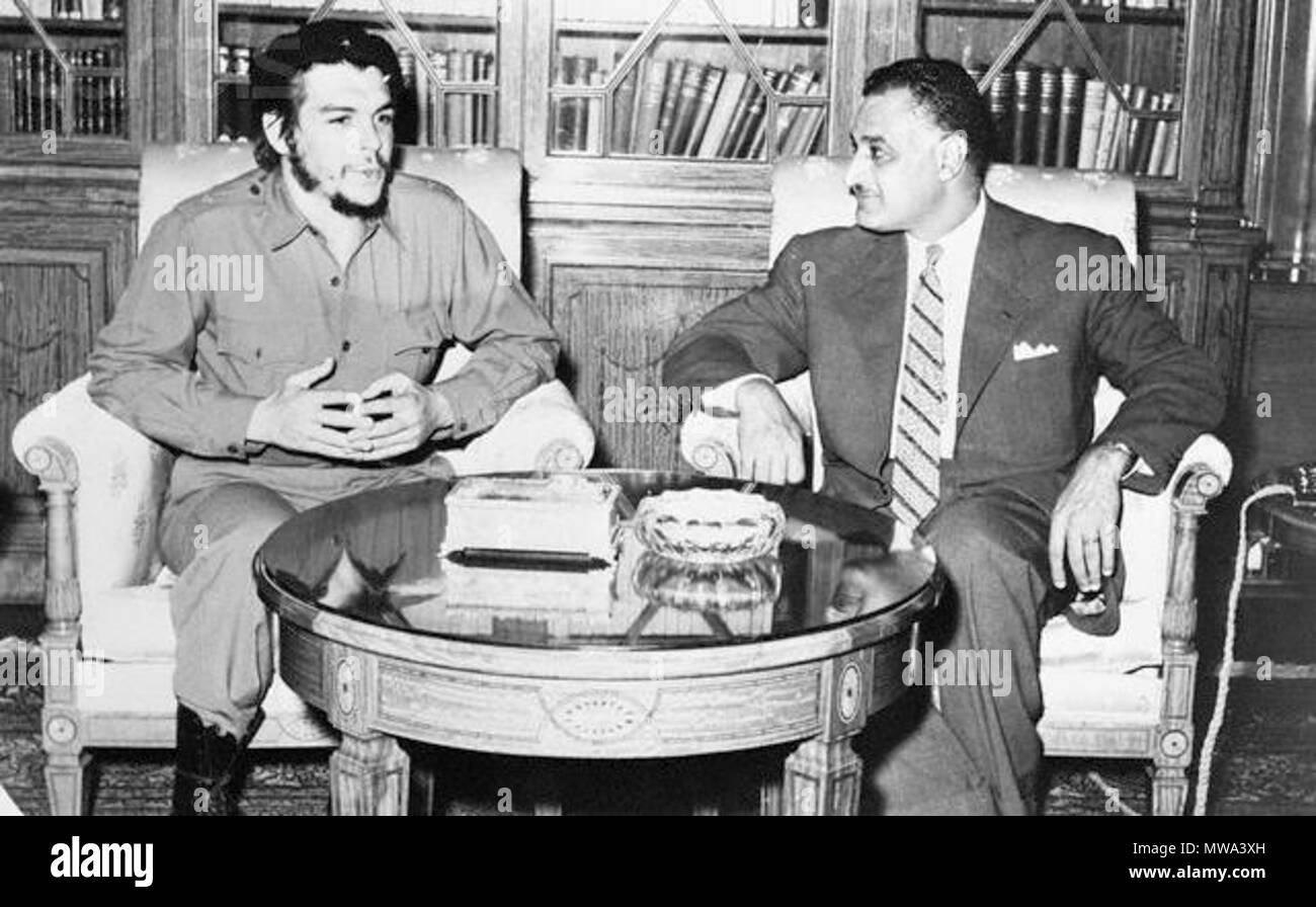 . Português: Encontro entre Ernesto Guevara e Gamal Abdel Nasser. 31 January 2014, 10:46:32. Oisin Abdullah 125 Chenasser - Stock Image