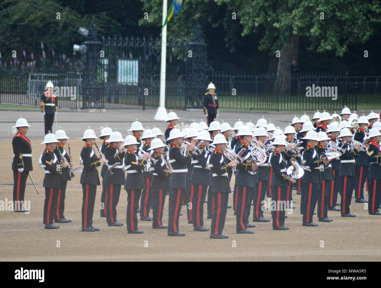 The Massed Bands of Her Majesty`s The Royal Marines Musical Spectactular - Stock Image