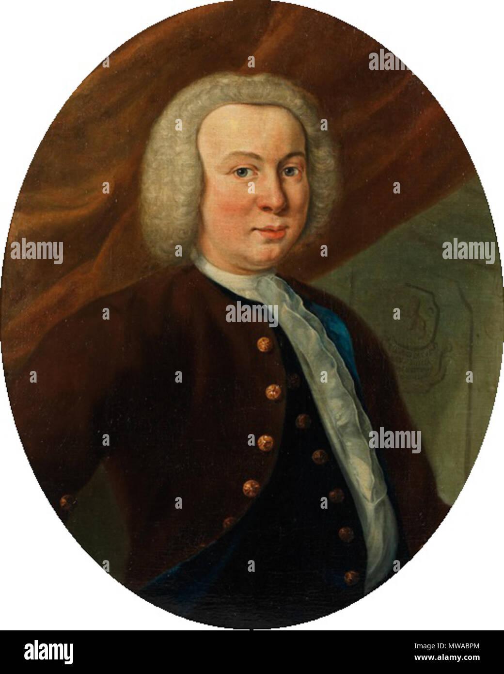 . Nederlands: Edzard Jacob Lewe van Middelstum . 1740. Johannes Antiquus (1702-1750) 319 Johannes Antiquus - Edzard Jacob Lewe van Middelstum - Stock Image