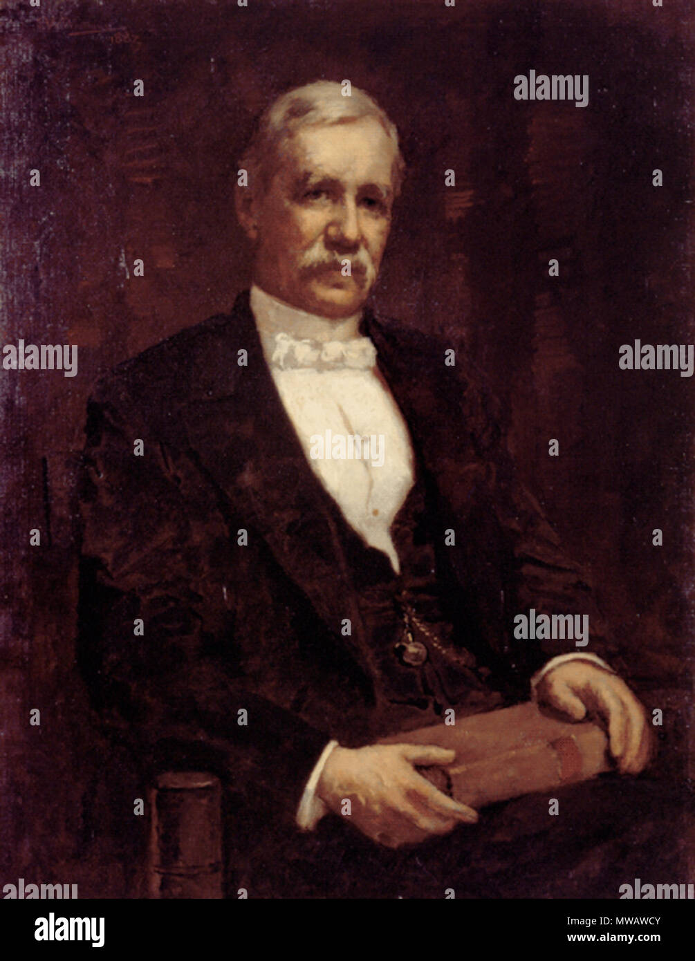 . Portrait of Charles Gideon Putnam, MD. By Edwin T. Billings (1824-1893) Oil on canvas. H. 30 ¼, W 25 ½ in. between 1865 and 1875.   Edwin Tryon Billings (1824–1893)  Alternative names Edwin T. Billings; E. T. Billings  Description painter American artist  Date of birth/death 20 November 1824 1893  Authority control  : Q5346880 VIAF:95965257 ULAN:500043394 RKD:103612 123 Charles Gideon Putnam MD ca1860s by Edwin T Billings HistoricNewEngland - Stock Image
