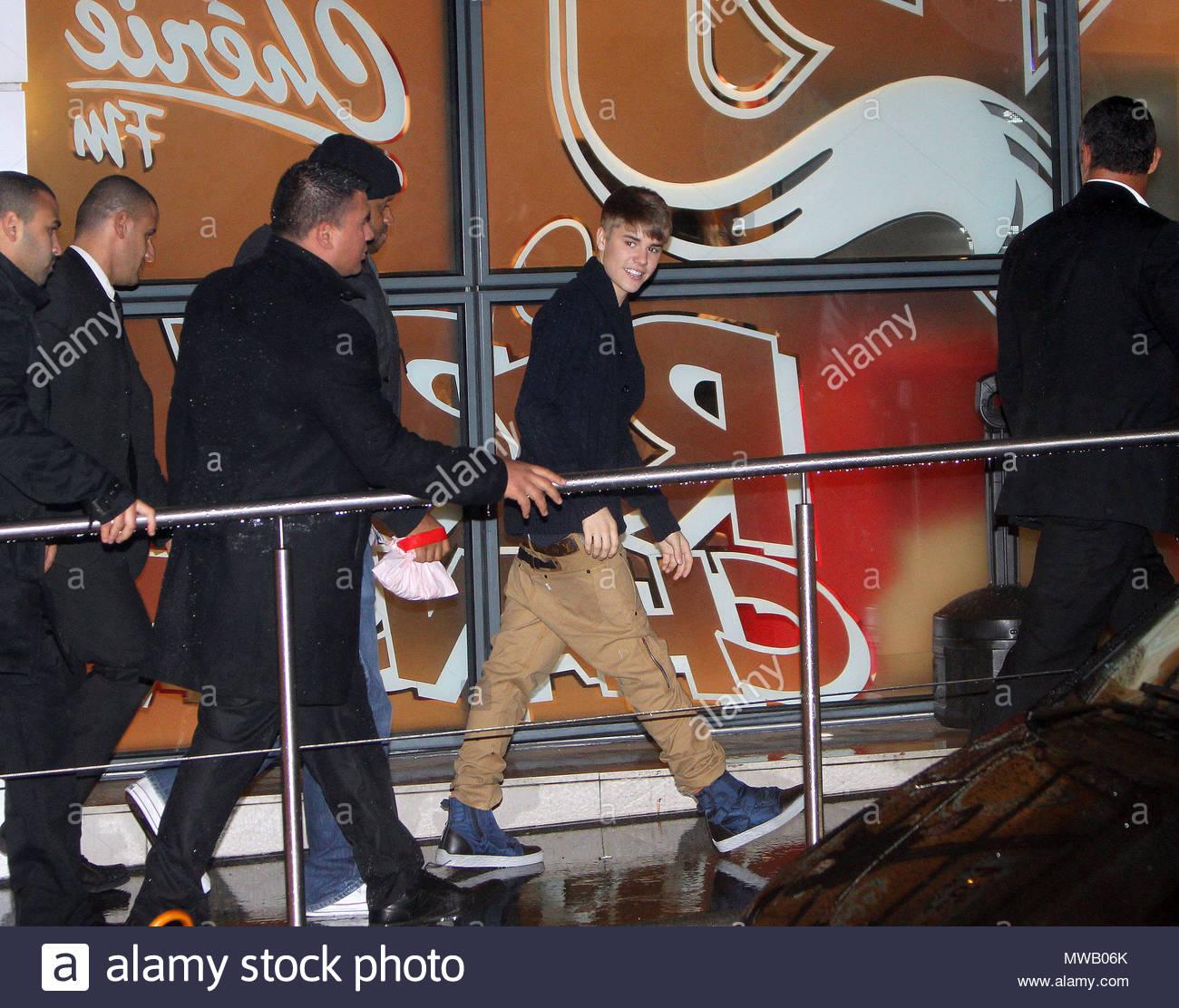 Justin Bieber. Justin Bieber and Selena Gomez arriving at NRJ radio ...