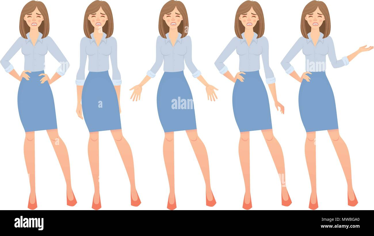 business woman set - Stock Vector