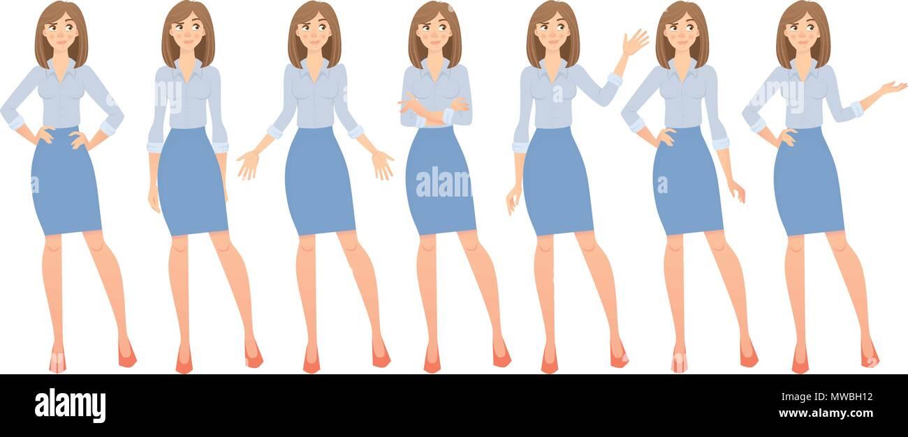 business woman set - Stock Image