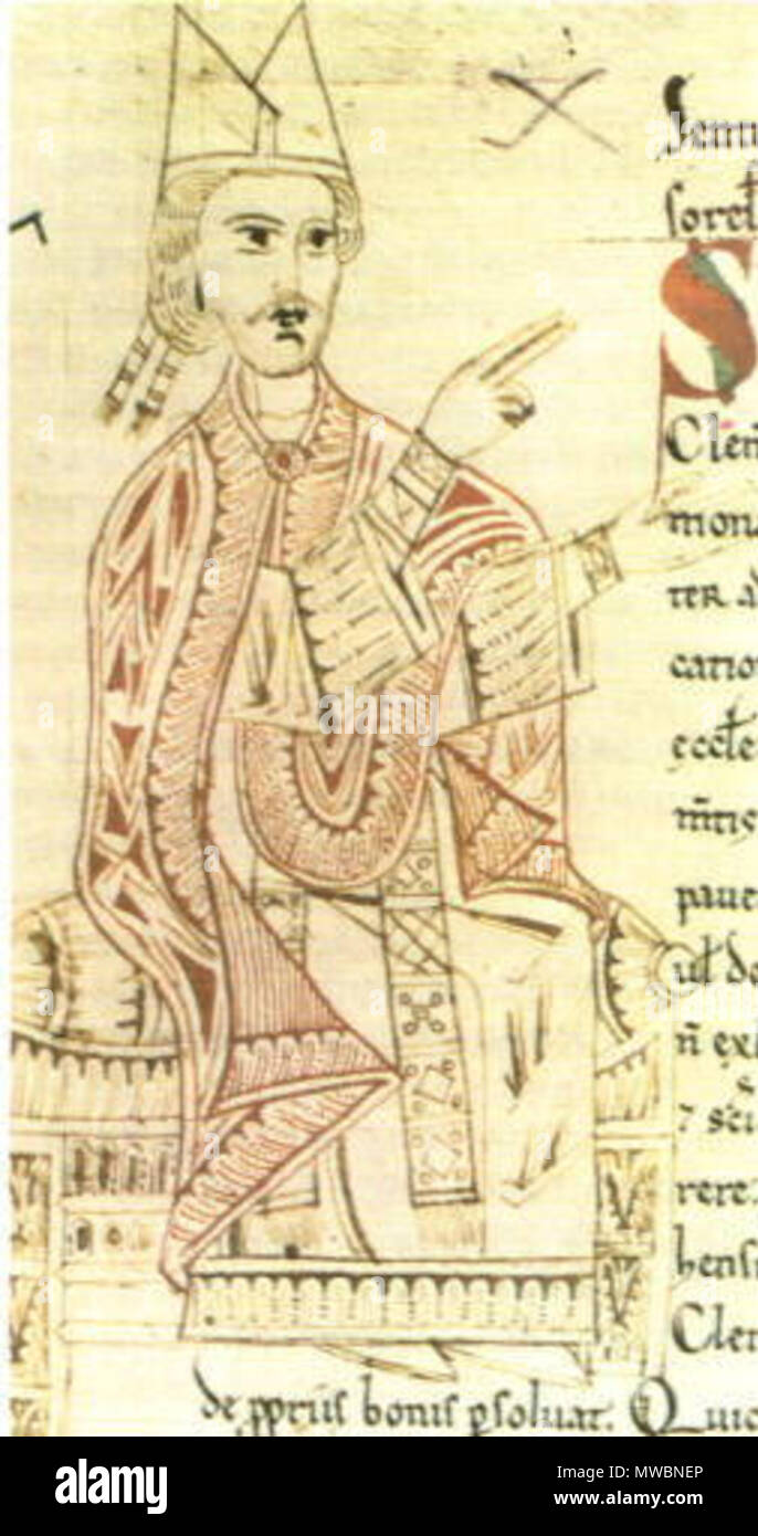 . English: Pope Gregory VII . user:GDK 254 Gregory VII - Stock Image