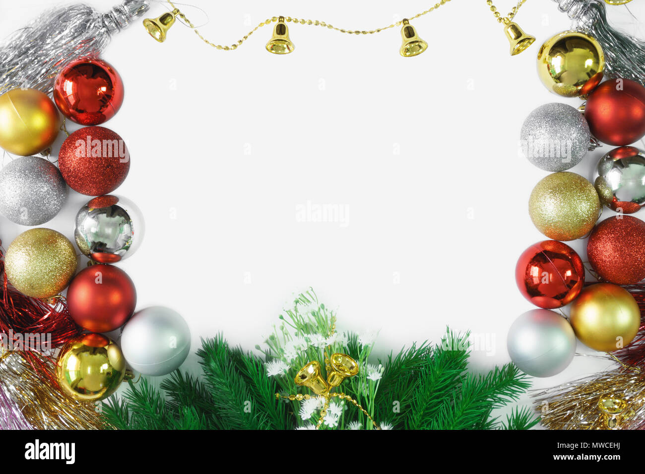 Christmas Ornaments Background.Christmas Ornaments Background Copy Space Merry Christmas