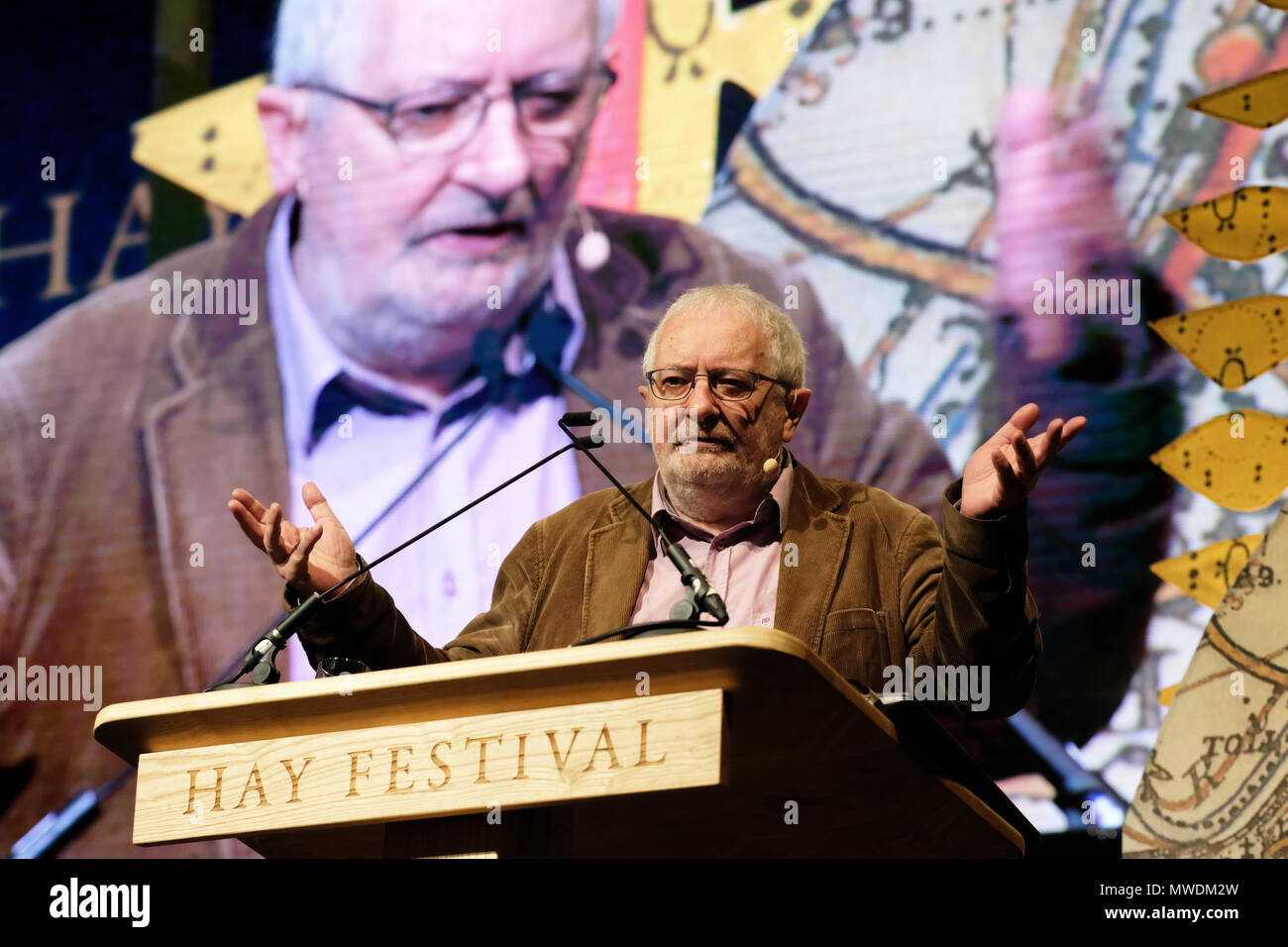 Hay Festival, Hay on Wye, UK - Friday 1st June 2018 - Terry Eagleton, literary theorist and critic on stage at the Hay Festival  - Photo Steven May / Alamy Live News - Stock Image