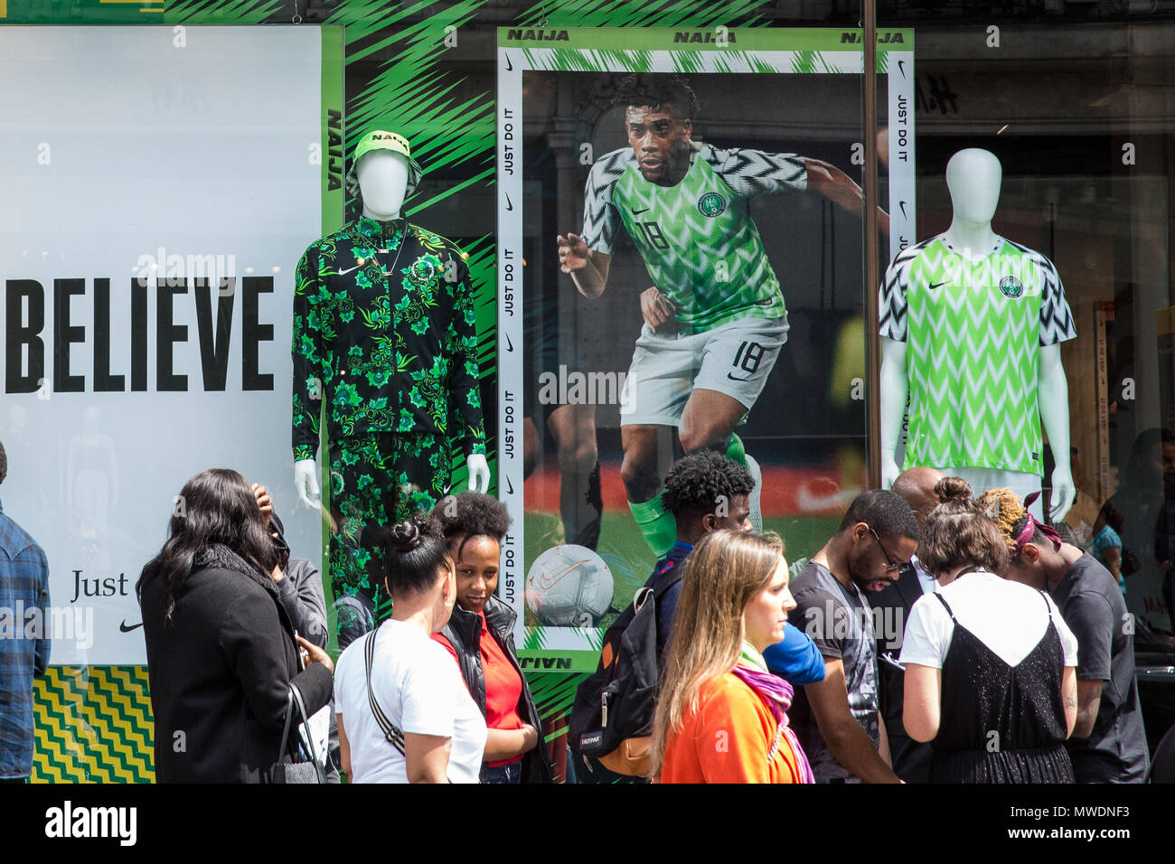 buy popular 5cced 26746 London, UK. 1st June, 2018. Fans of the Super Eagles, the ...