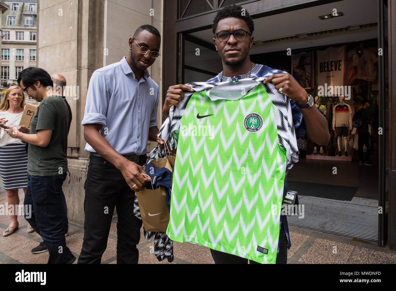 buy popular a3a60 28197 London, UK. 1st June, 2018. Fans of the Super Eagles, the ...