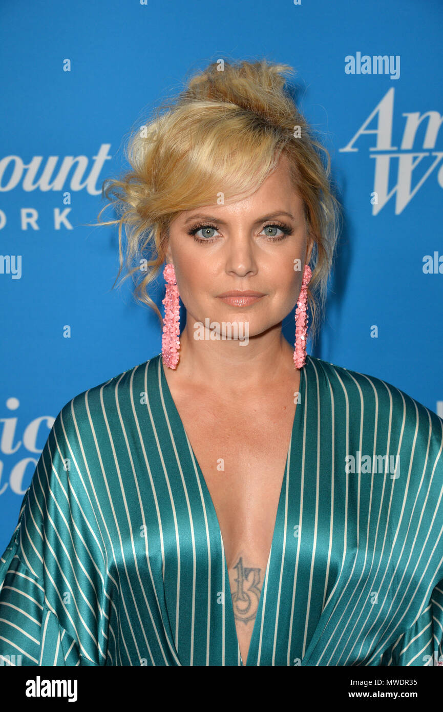 Los Angeles, USA. 31st May, 2018. Mena Suvari at the premiere party for 'American Woman' at the Chateau Marmont Picture: Sarah Stewart Credit: Sarah Stewart/Alamy Live News - Stock Image