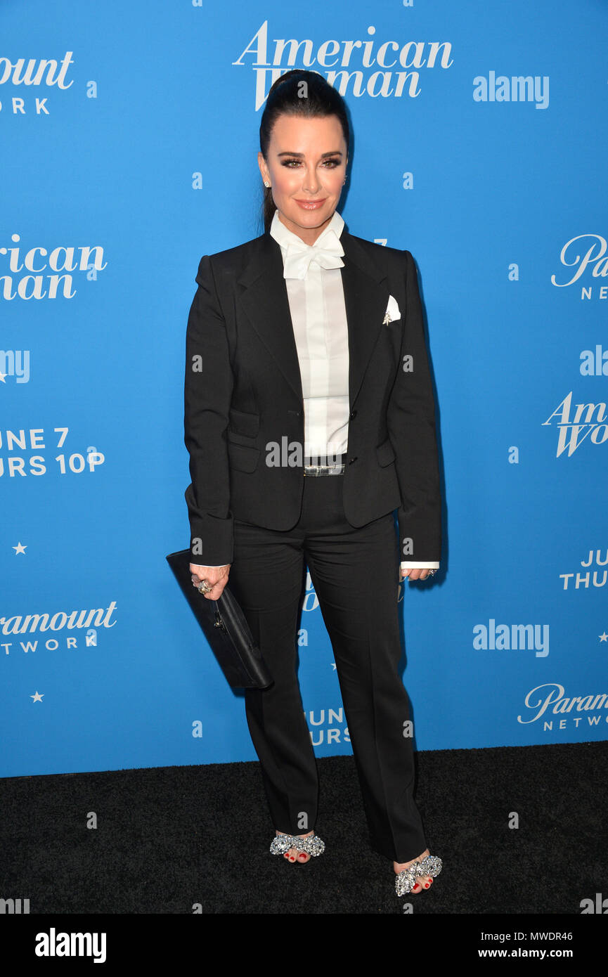 Los Angeles, USA. 31st May, 2018. Kyle Richards at the premiere party for 'American Woman' at the Chateau Marmont Picture: Sarah Stewart Credit: Sarah Stewart/Alamy Live News - Stock Image